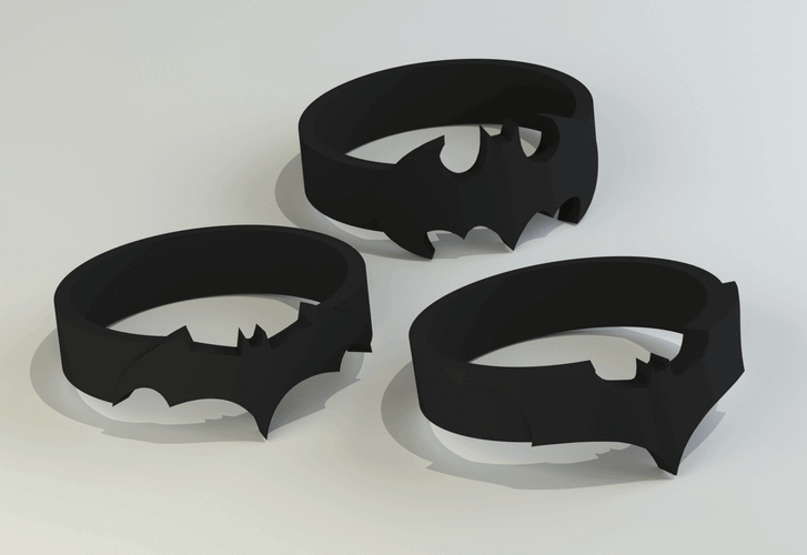 Image Of Batman 3D Logos And Symbols Rings