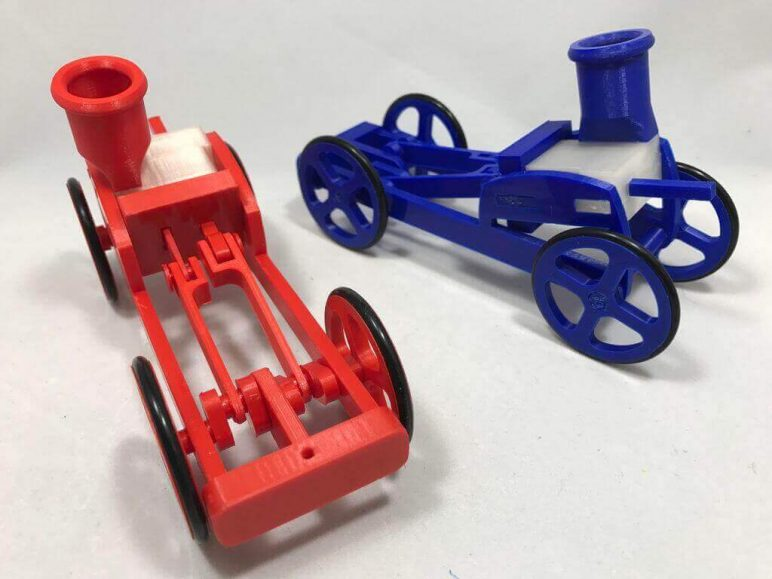 Image of 30 Interesting 3D Printing Projects: Balloon Powered Chassis