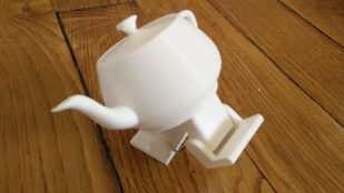 Featured image of Cute Dancing Teapot Made with Arduino & 3D Printing
