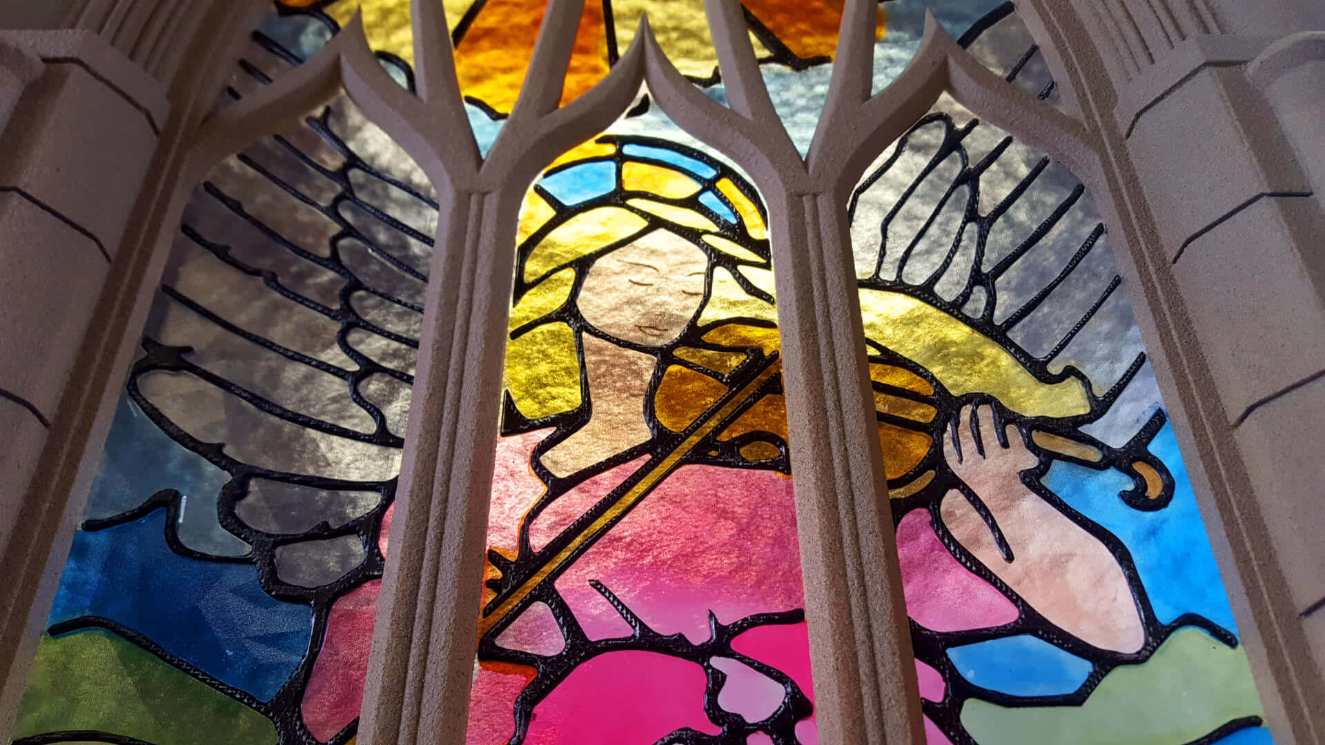 Stunning Stained Glass Window is 3D Printed from Plastic | All3DP