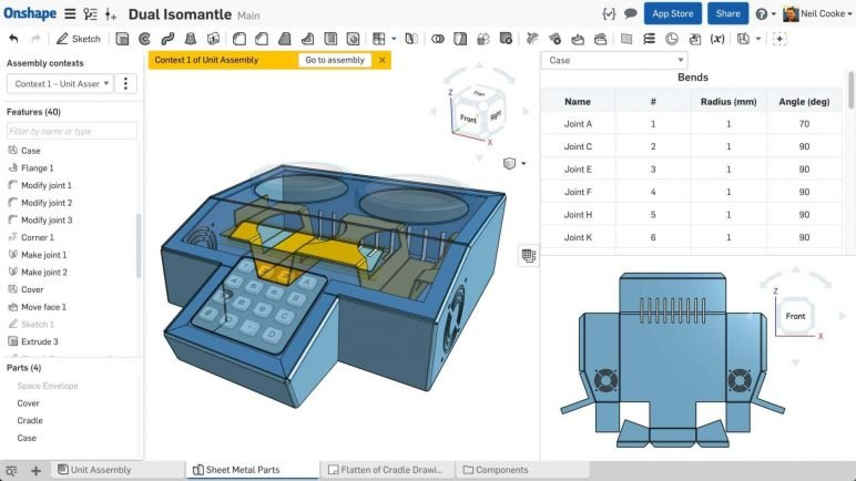 Image of Alternativas gratuitas a SolidWorks: Onshape