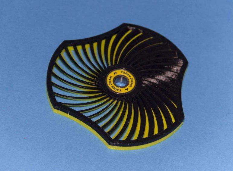 Image of Best Fidget Spinner Toys to Buy or DIY: Spiral Moire Wind Spinner