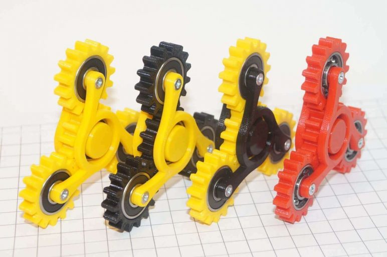 Image of Best 3D Printed Fidget Spinners: Hand Spinner Four Gears