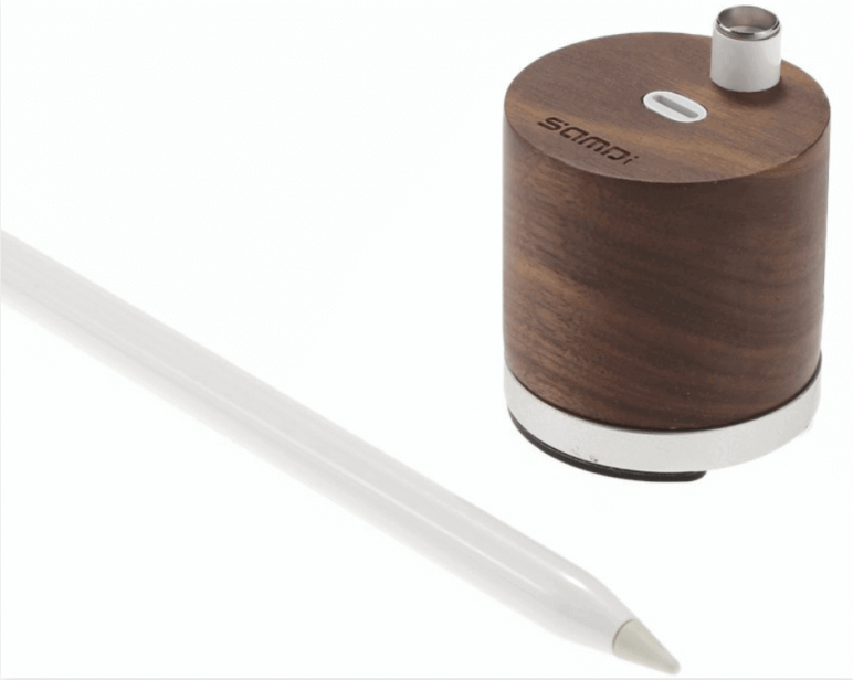Image of Best Apple Pencil Accessories: SAMDI Wooden Charging Stand