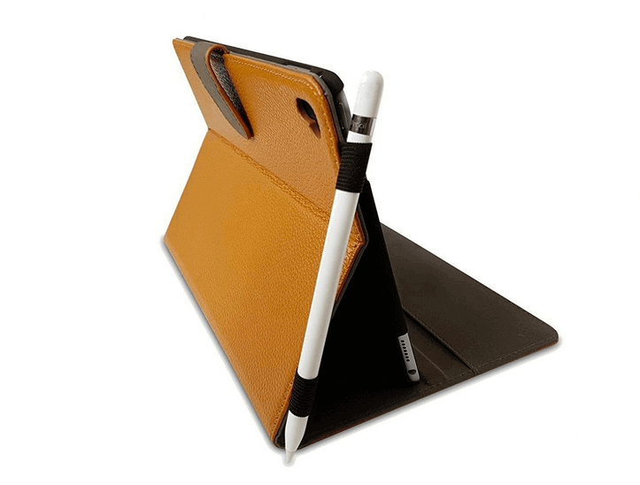 Image of Best Apple Pencil Accessories: Cuvr Leather Case with Pencil Holder