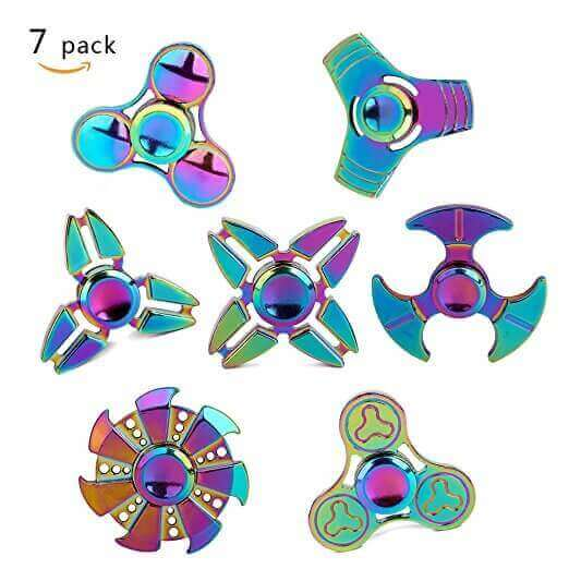 Image Of Best Fidget Spinner On Amazon Metal 7 Pack