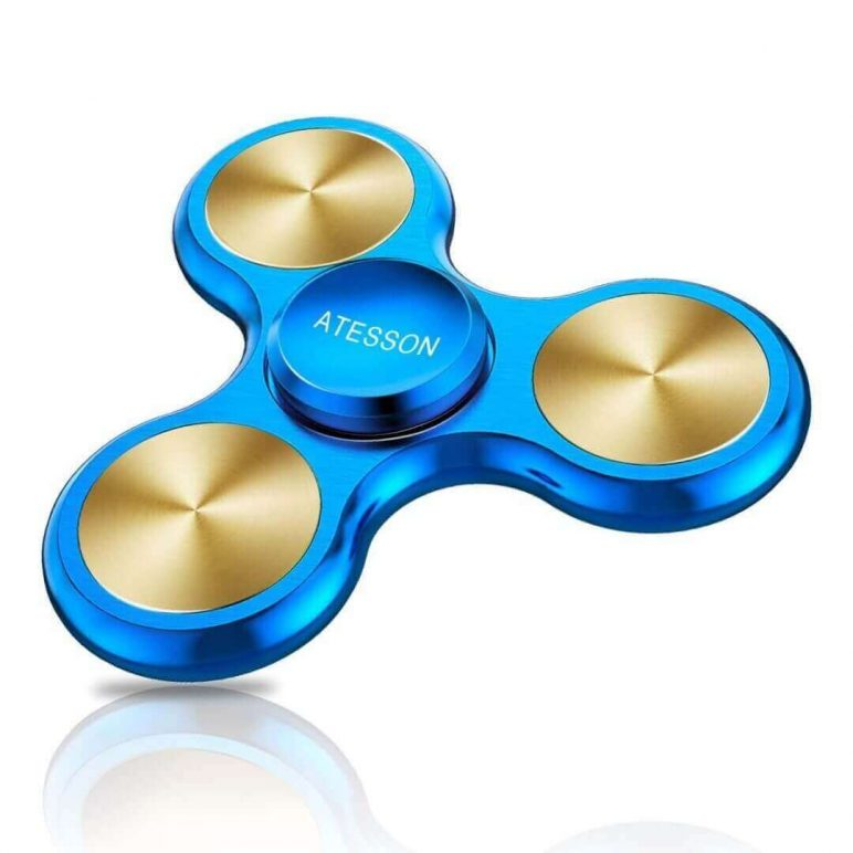 Image of Best Fidget Spinner on Amazon: ATESSON Blue Spinner