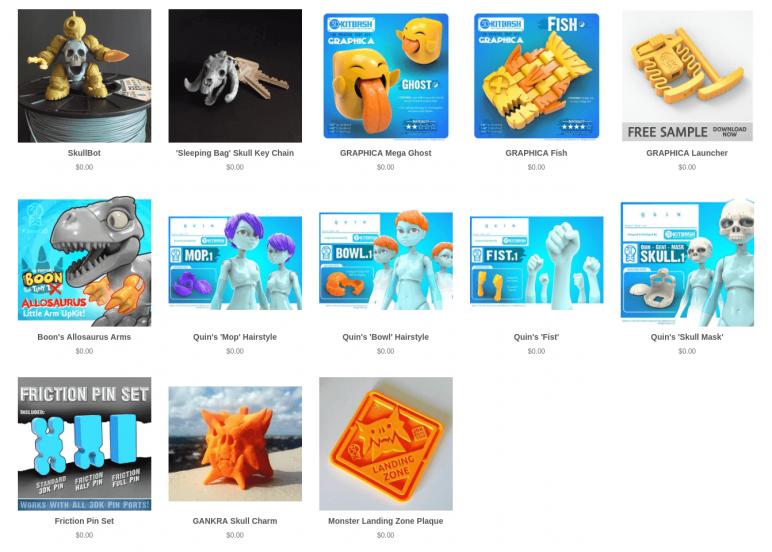 Image of Arquivos STL gratuitos e modelos de impressão 3D: 3DKitBash