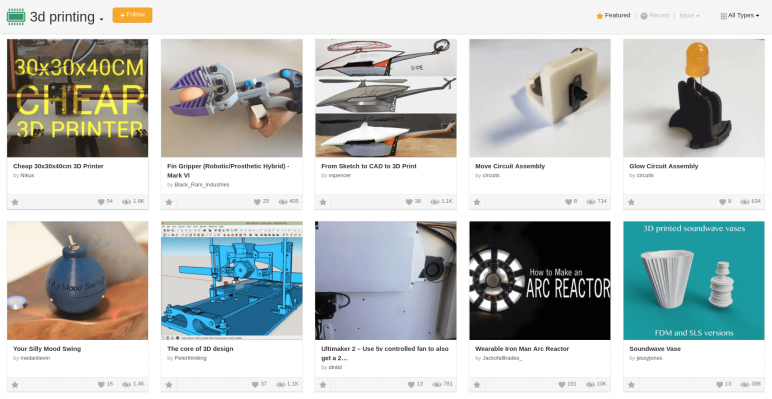 Image of Free STL Files, 3D Printer Models, 3D Printer Files & 3D Printing Designs: Instructables
