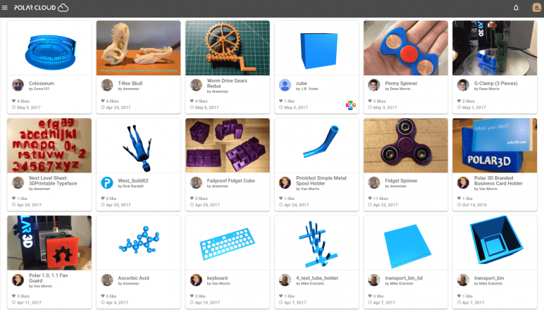 Image of Arquivos STL gratuitos e modelos de impressão 3D: Polar Cloud