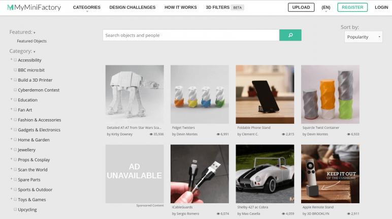 Image of Arquivos STL gratuitos e modelos de impressão 3D: MyMiniFactory