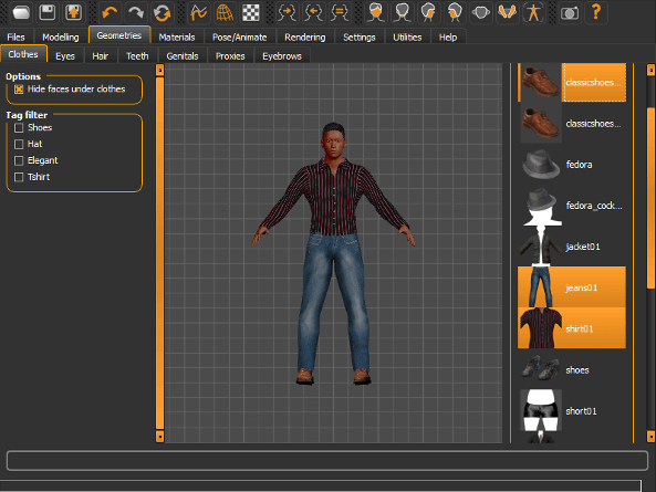 Image of 3D Programm/ 3D-Zeichenprogramm/ 3D-CAD-Freeware & Software / 3D-Modeling-Software: MakeHuman