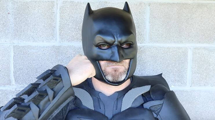 image of 3d printed mask batman cowl