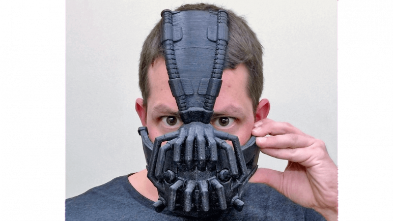 Image of 3D Printed Mask: Bane