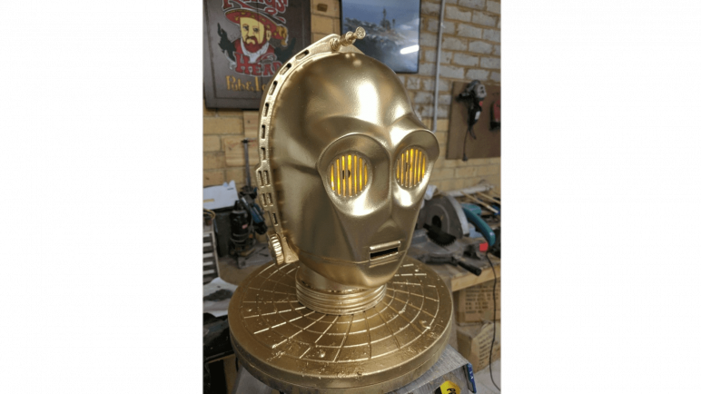 Image of 3D Printed Mask: C3PO