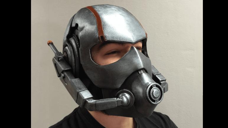 image of 3d printed mask ant man helmet