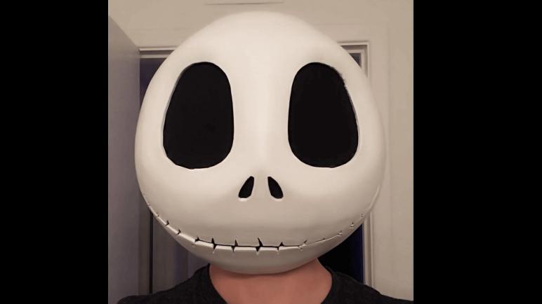 Image of 3D Printed Mask: Jack Skellington