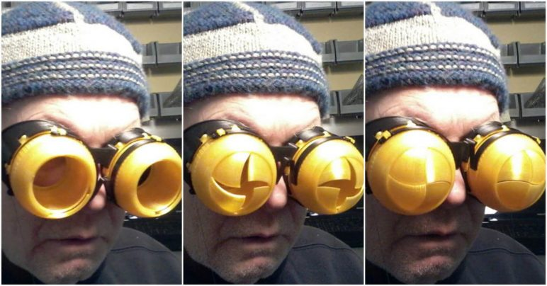 Image of 3D Printed Mask: Blinking Goggles