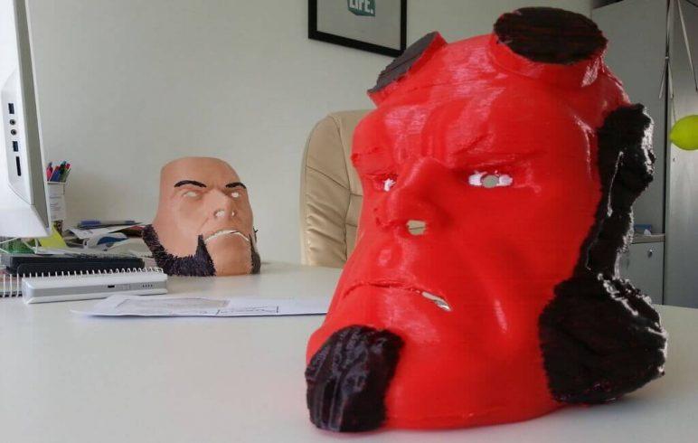 Image of 3D Printed Mask: Hellboy