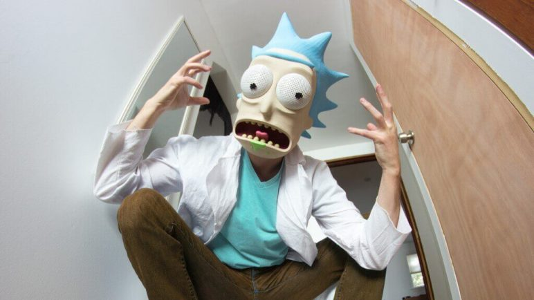 Image of 3D Printed Mask: Rick Sanchez from Rick and Morty