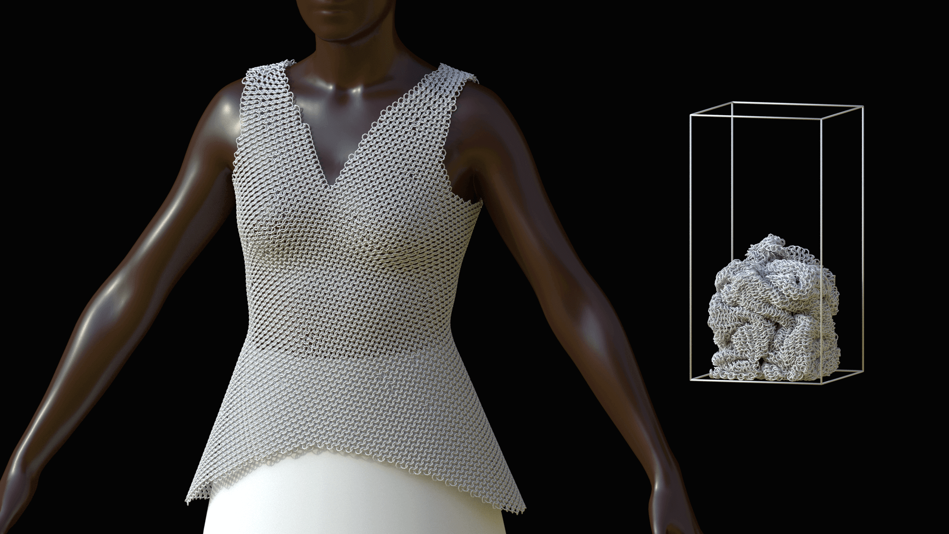 Link Bodice Dress Made by Nervous System on Formlabs Fuse 1 | All3DP