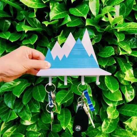 Image of 3D Printing Ideas – 40 Easy Home Decor Things to 3D Print: Key Holder