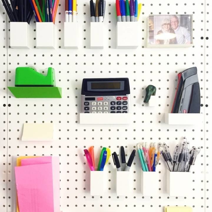 Image of 3D Printing Ideas – 40 Easy Home Decor Things to 3D Print: Pegboard Collection