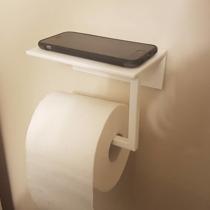 Image of 3D Printing Ideas – 40 Easy Home Decor Things to 3D Print: Toilet Paper Phone Holder