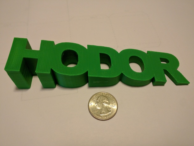 Image of 3D Printing Ideas – 40 Easy Home Decor Things to 3D Print: Hodor Doorstop