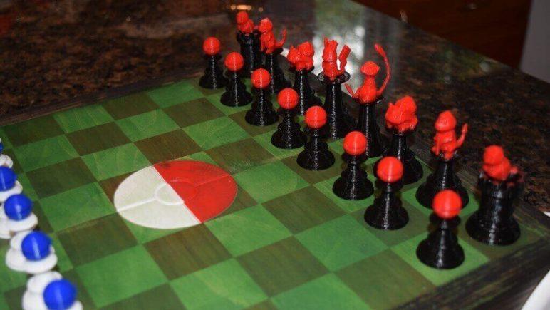 Image of 3D Printed Chess Set: Pokémon Chess Set