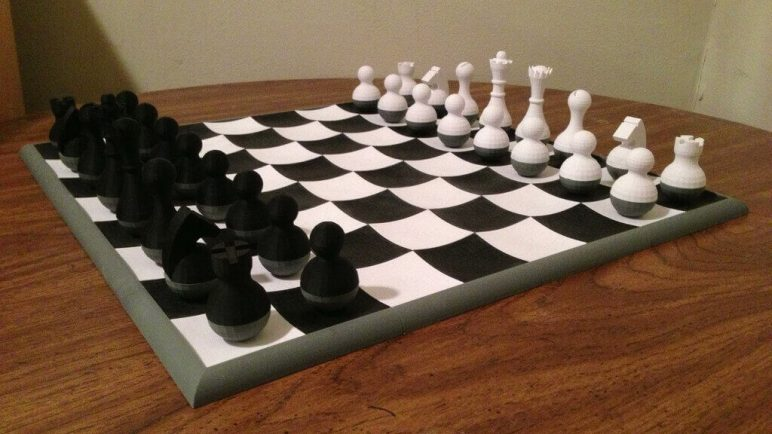 Image of 3D Printed Chess Set: Wobbly Chess Set
