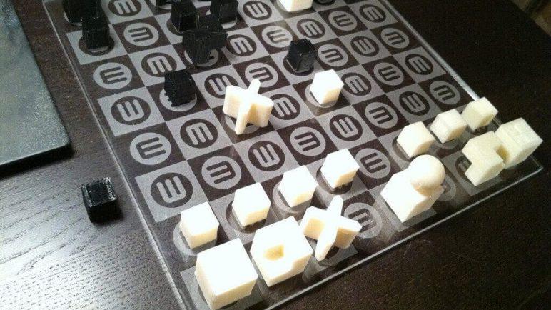 Image of 3D Printed Chess Set: Bauhaus Chess Set