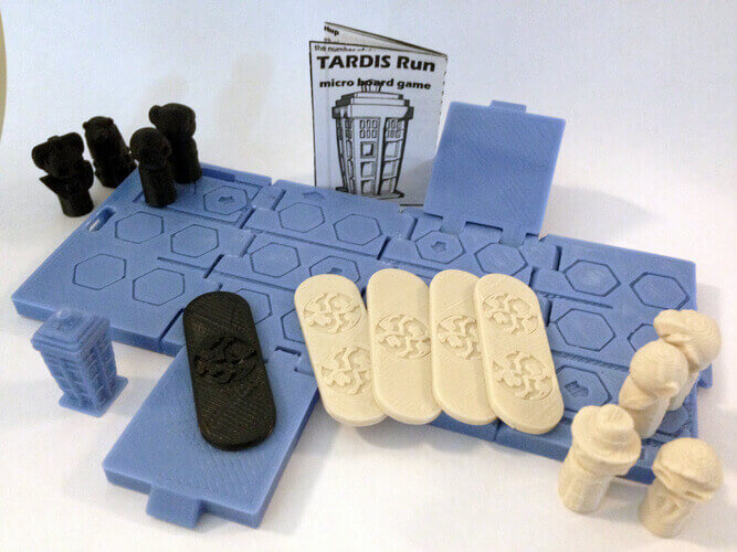 Image of DIY Board Games You Can Make with a 3D Printer: TARDIS Run
