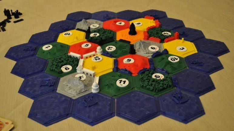 Image of DIY Board Games You Can Make with a 3D Printer: Settlers of Catan
