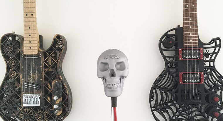 Rock Out with a Skull-Themed 3D Printed Microphone Casing | All3DP