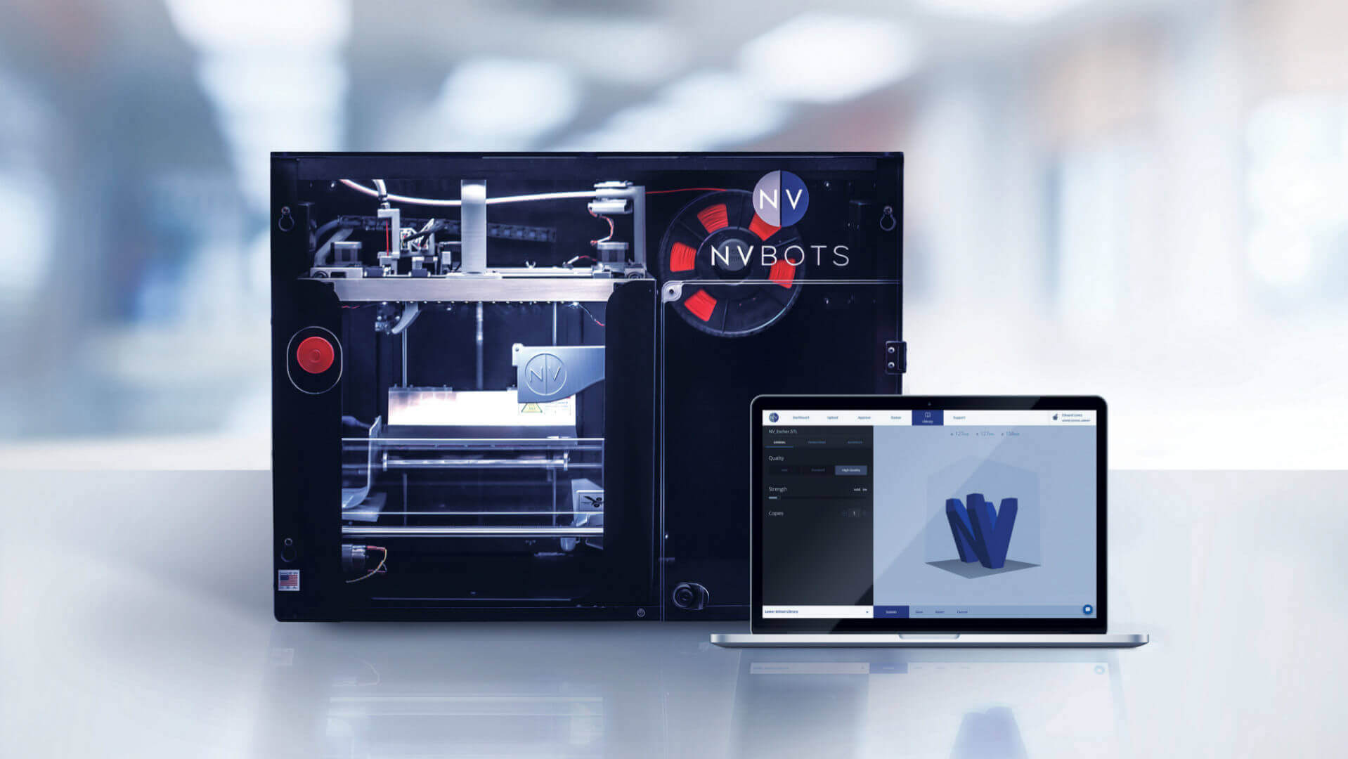 NVBots 3D Printer has Project Queuing and Auto Part Removal | All3DP