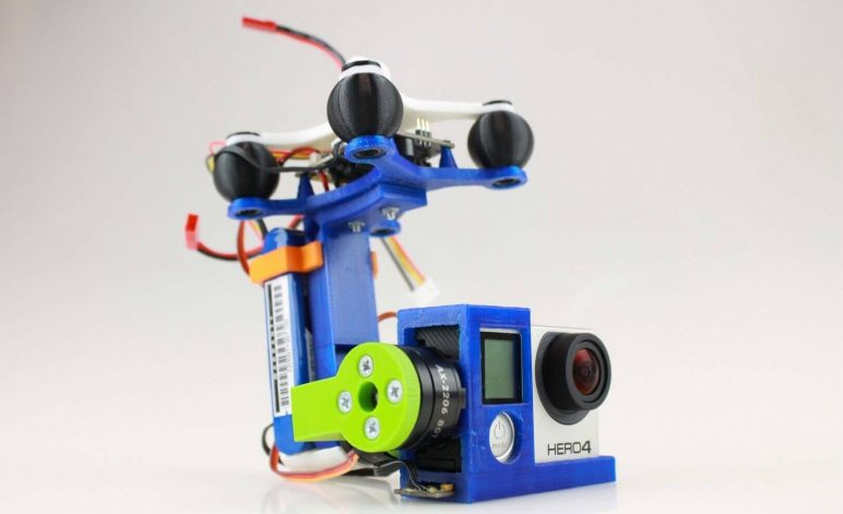 3 axis gimbal drone 3d printed