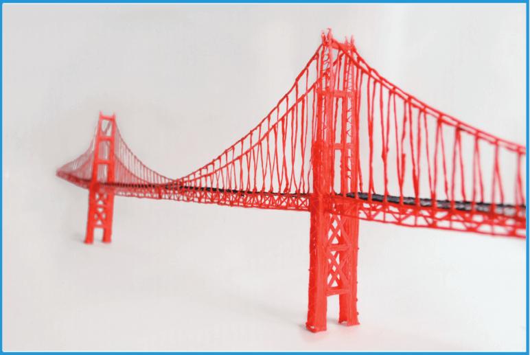 Image of 3D Pen Templates / 3D Pen Stencils: Golden Gate Bridge