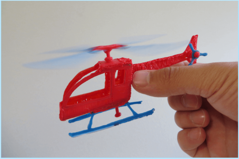 Image of 3D Pen Templates / 3D Pen Stencils: Helicopter