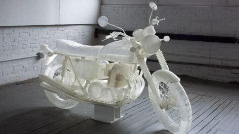Featured image of Artist 3D Prints Life-Size 1972 Honda CB500 Motorcycle