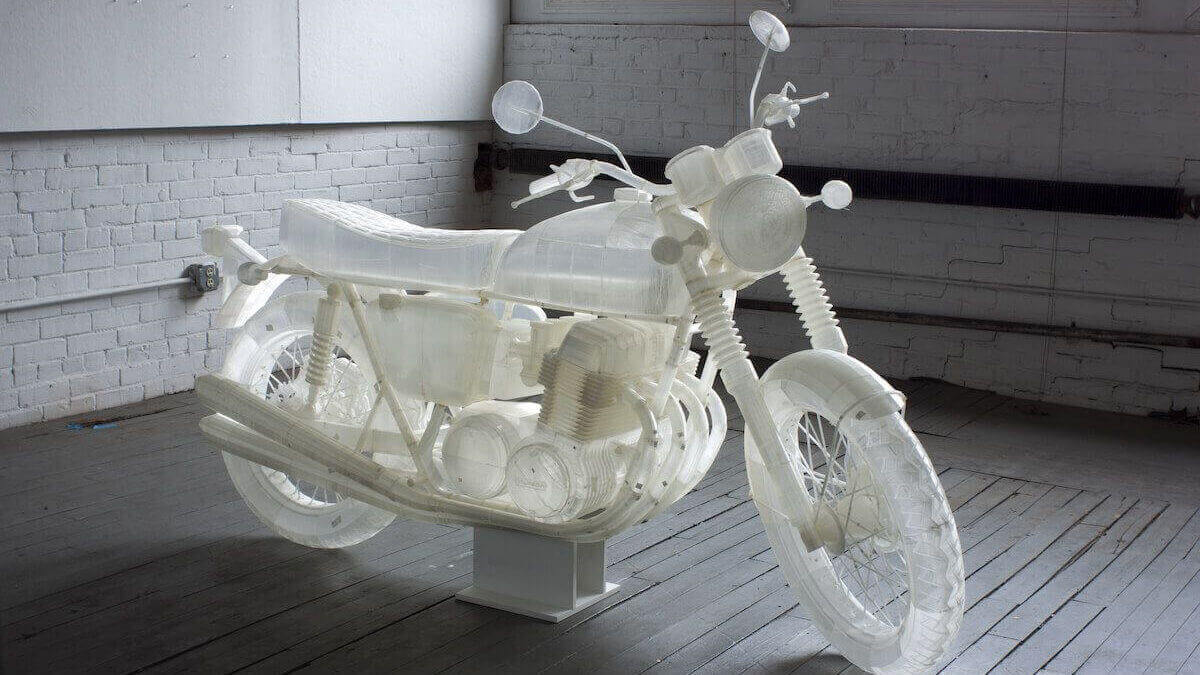 Artist 3D Prints Life-Size 1972 Honda CB500 Motorcycle | All3DP