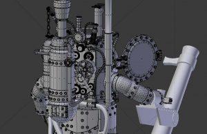3D model of a steampunk robot