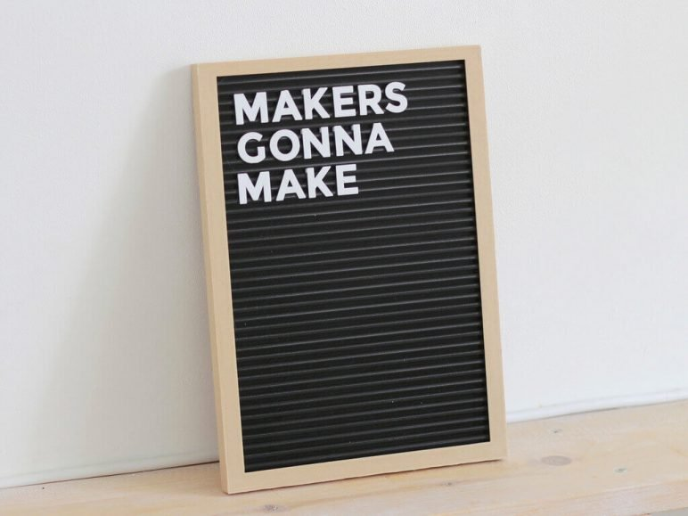 Image of 3D Printing Ideas – 40 Easy Home Decor Things to 3D Print: Letter Board
