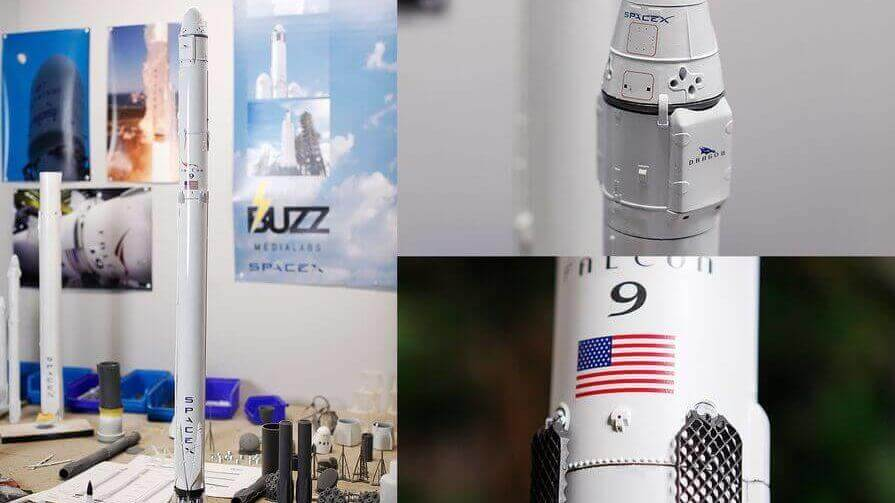 Enthusiast Uses 3D Printing to Develop Accurate SpaceX Models | All3DP