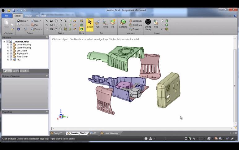 Image of Les meilleurs logiciels 3D : modélisation 3D/dessin 3D/CAO 3D: DesignSpark