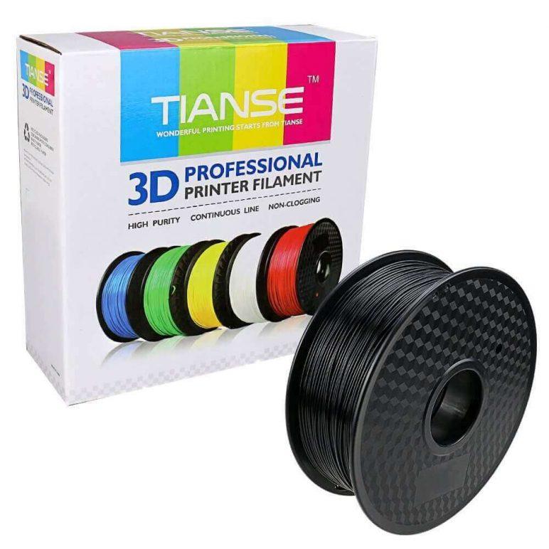 Image of Best Selling 3D Printer Filament on Amazon: TIANSE Black PLA