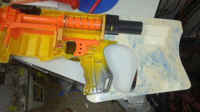 Image of 3D Printed Nerf Gun Parts, Mods & Attachments: Stock for Nerf Recon CS-6 Blaster