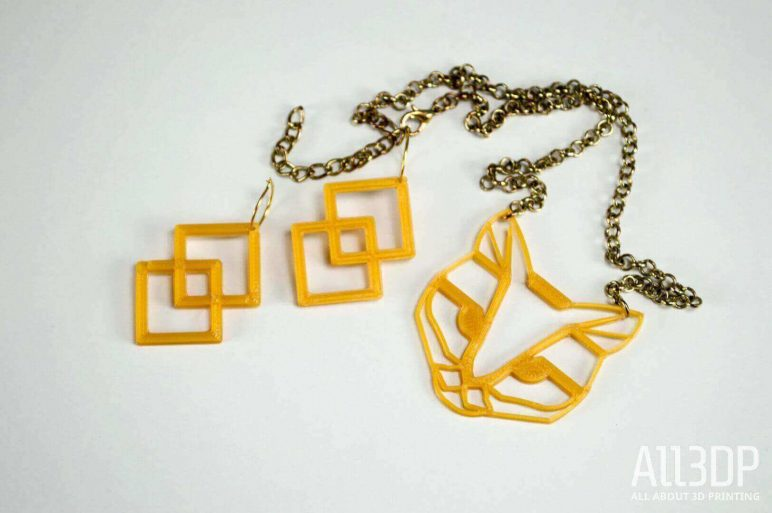 Image of 3D Printed Jewlery: Cat Necklace