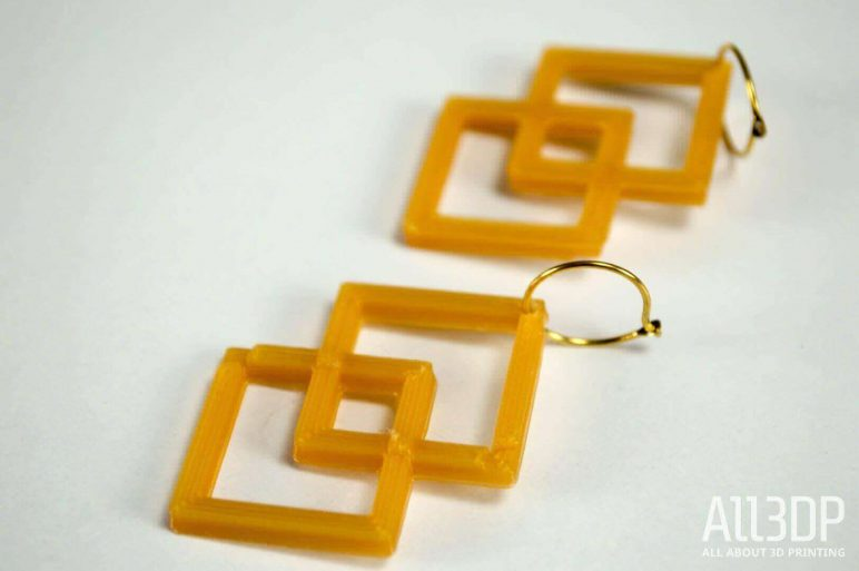 Image of 3D Printed Jewlery: Two Square Earrings