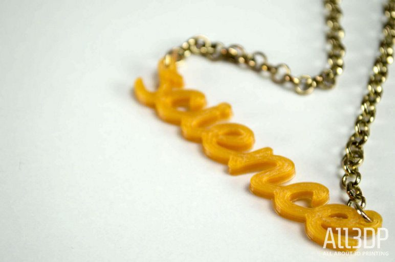 Image of 3D Printed Jewlery: Science Necklace